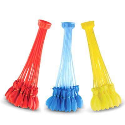 Bunch-O-Ballons---Acessorio-para-Encher-Baloes-de-Agua---Colorido---Azul-Amarelo-e-Vermelho