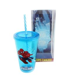 Copo-com-Canudo---500-ml---Marvel---Ultimate-Spider-Man---Azul---Zona-Criativa-10020458-frente1