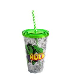 Copo-com-Canudo---500-ml---Marvel---The-Incredible-Hulk---Verde---Zona-Criativa-10020460-frente