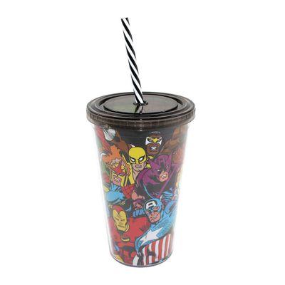 Copo-com-Canudo---500-ml---Marvel---Herois---Preto---Zona-Criativa-10020462-frente1