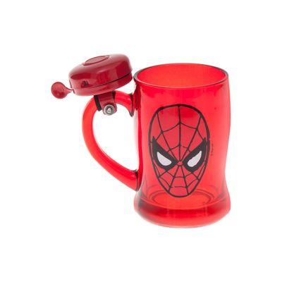 Caneca-com-Campainha---400-ml---Marvel---Spider-Man---Vermelho---Zona-Criativa-10020472-frente