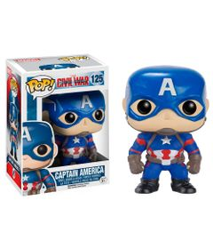 Figura-Colecionavel---Funko-POP---Disney---Marvel---Capitao-America---Funko