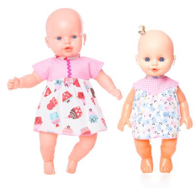 Kit-2-Bonecas---Nina-Vestido-Rosa-com-Docinhos-e-Nininha-Vestido-Rosa---Estrela
