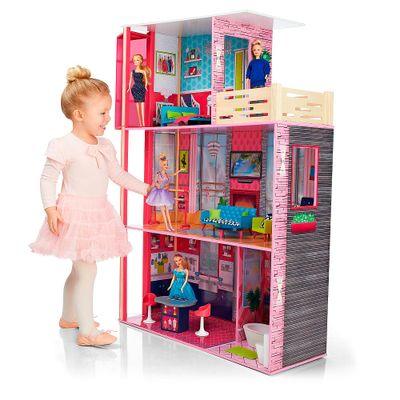 Mega-Playset---Casa-de-Bonecas-em-Madeira---Imaginarium---New-Toys