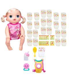 Kit-Baby-Alive---Boneca-Hora-do-Passeio---Loira-Refil-de-Fralda-e-Comidinha---Hasbro