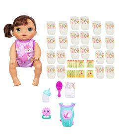 Kit-Baby-Alive---Boneca-Hora-do-Passeio---Morena-Refil-de-Fralda-e-Comidinha---Hasbro