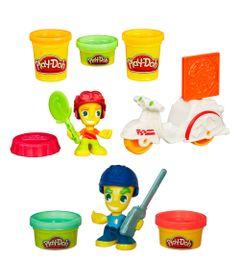 Compre-Play-Doh-Town---Entregador-de-Pizza-e-Leve-Play-Doh-Town---Policial---Hasbro