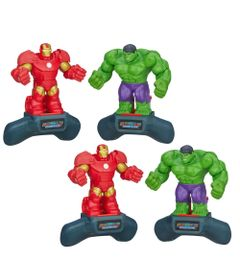 Kit-Boneco---Disney-Marvel-Battle-Masters-Heroes---Iron-Man-e-Hulk---Hasbro