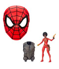 Kit-com-Figura-e-Mascara-Basica---Disney---Marvel---Misty-Knight-15-Cm-e-Mascara-Spider-Man---Hasbro