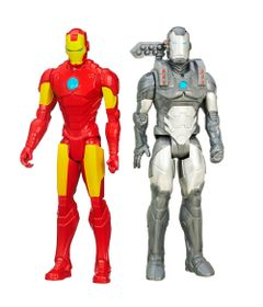Kit-de-Bonecos---30-Cm---Disney---Marvel-Avengers---Titan-Heros-Series---Machine-War-e-Iron-Man---Hasbro