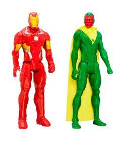 Kit-de-Bonecos---30-Cm---Disney-Marvel---Titan-Heroes-Series---Iron-Man-e-Visao---Hasbro