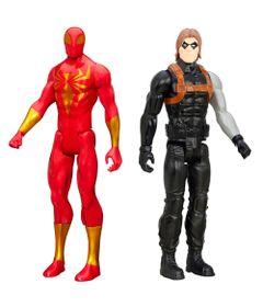 Kit-de-Bonecos---30-Cm---Disney-Marvel---Titan-Heroes-Series---Iron-Spider-e-Soldado-Invernal---Hasbro