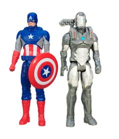Kit-de-Bonecos-30-Cm---Titan-Hero-Series---Disney---Marvel-Avengers---Machine-War-e-Capitao-America---Hasbro