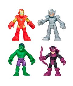 Kit-de-Bonecos---Disney---Marvel---Super-Hero-Adventures---Hulk-Hawkeye-Iron-Man-e-Ultron---Hasbro