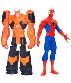 Kit-de-Bonecos---Titan-Hero---Disney---Marvel---Ultimate-Spider-Man-e-Transformers---Autobot-Drift---Hasbro