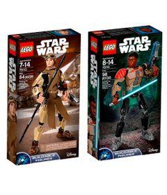 Kit-LEGO---Figuras-Articuladas---Disney---Star-Wars---75113-e-75116---Rey-e-Finn