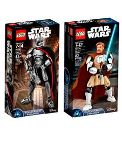 Kit-LEGO---Figuras-Articuladas---Disney---Star-Wars---75118-e-75109---Obi-Wan-Kenobi-e-Capita-Phasma
