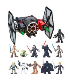 Kit-Playset-com-Veiculo-e-Figura---Disney---Star-Wars---Galactic-Heroes---Tie-Fighter---Hasbro