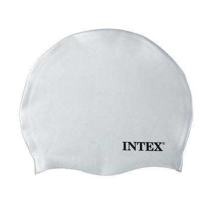 Touca-para-Natacao-de-Silicone---Branca---Intex