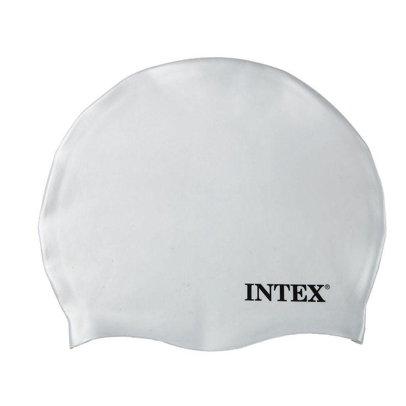 13710605d Touca para Natação de Silicone - Branca - Intex - Ri Happy Brinquedos