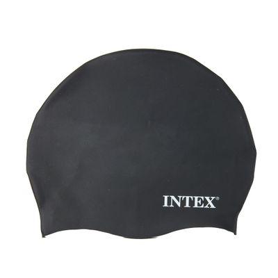 Touca-para-Natacao-de-Silicone---Preta---Intex
