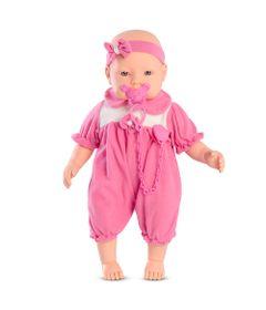 Boneca-Baby-By---Com-Roupinhas---Macaquinho-Pink-e-Branco---Roma-Jensen
