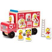 Caminhao-de-Bombeiros-de-Madeira-com-Figuras---Disney---Mickey-Mouse---New-Toys
