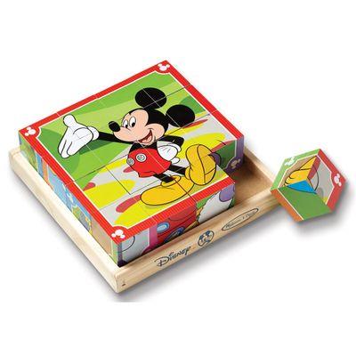 Quebra-Cabeca---Cubos-de-Madeira---Disney---Mickey-Mouse---New-Toys