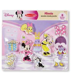 Quebra-Cabeca---Pecas-de-Encaixe-de-Madeira---Disney---Minnie-Mouse---New-Toys