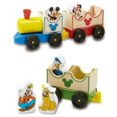 Trenzinho-de-Madeira-com-Personagens-de-Madeira---Disney---Mickey-Mouse---New-Toys