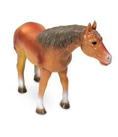 Figura-Bicho-Mundi---20-Cm---Cavalos---Marrom---DTC