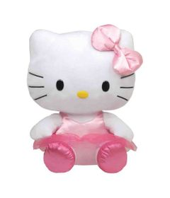 Pelucia-Media---30-Cm---Hello-Kitty-Bailarina---DTC