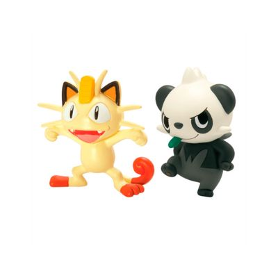 Mini-Figuras-Colecionaveis-Pokemon---Meowth-Vs-Pancham---Tomy
