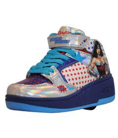 Tenis-Roller---DC-Comics---Mulher-Maravilha---Azul---Royal-Kids