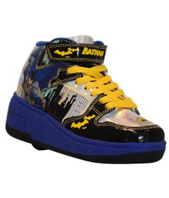 Tenis-Roller---DC-Comics---Batman---Preto-e-Amarelo---Royal-Kids