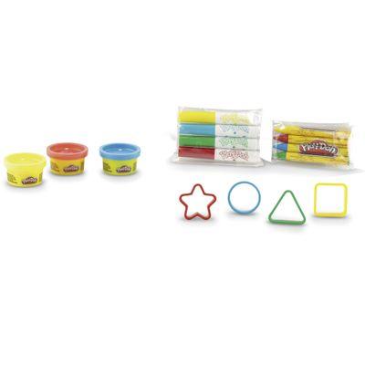 Massa-de-Modelar---Play-Doh---Conjunto-de-Formas-e-Canetinhas-Coloridas---DTC