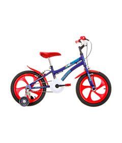 Bicicleta-Aro-16---Nic---Azul-e-Vermelho---Houston-NC161O-frente