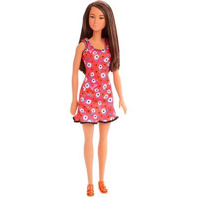 Boneca-Barbie---Fashion-And-Beauty---Morena-Vestido-Pink-Floral---Mattel