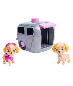 Playset-e-Figuras---Patrulha-Canina---Skye-com-Casinha-de-Transformacao---Sunny