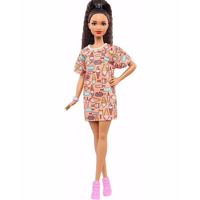 Boneca-Barbie-Fashionista---Vestido-de-Sorvetes---Mattel