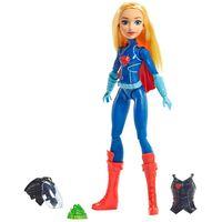 Boneca-DC-Super-Hero-Girls---Supergirl-com-Equipamento-de-Batalha---Mattel