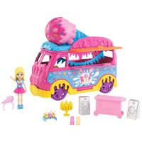 Mini-Boneca---Polly-Pocket---Polly-com-Carro-de-Carnaval---Carro-de-Sorvete---Mattel