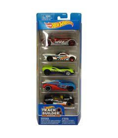 Carrinhos-Hot-Wheels---Pacote-com-5-Carros---Track-Builder---Mattel