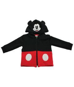Casaco-de-Moletom---Mickey---Preto-e-Vermelho---Disney