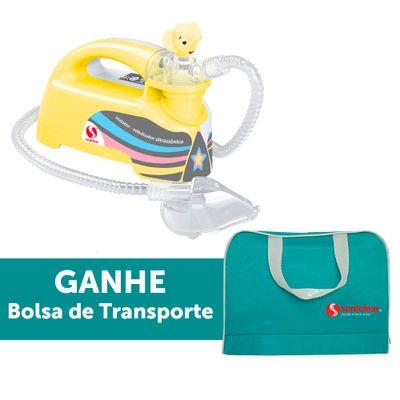 Inalador-Nebulizador-Ultrassonico-Pulmosonic-Star-Premium---Amarelo-Com-Bolsa-de-Transporte---Soniclear