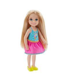 Mini-Boneca---Familia-da-Barbie---Chelsea-Club---Loira-Saia-Rosa---Mattel