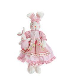 Pelucia-Coelho-com-Vestido-de-Poa---48-cm---Rosa---Cromus