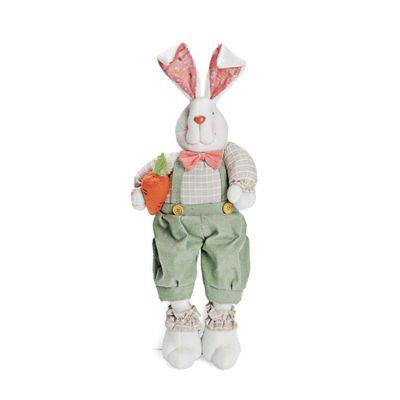 Pelucia-Coelho-Peach-com-Macacao---58-cm---Verde---Cromus