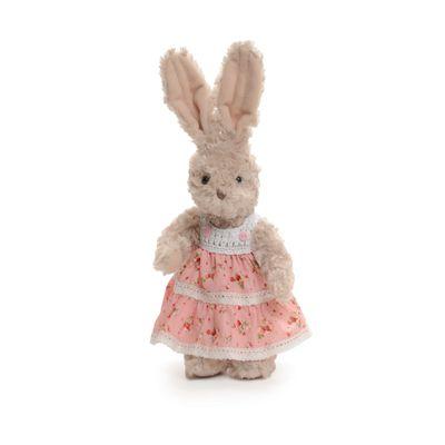 Pelucia-Luxo-Coelho-com-Vestido---30-cm---Rosa---Cromus