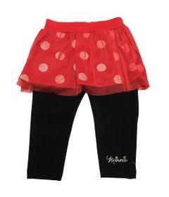 Saia-Legging-em-Meia-Malha---Minnie---Vermelho-e-Preto---Disney